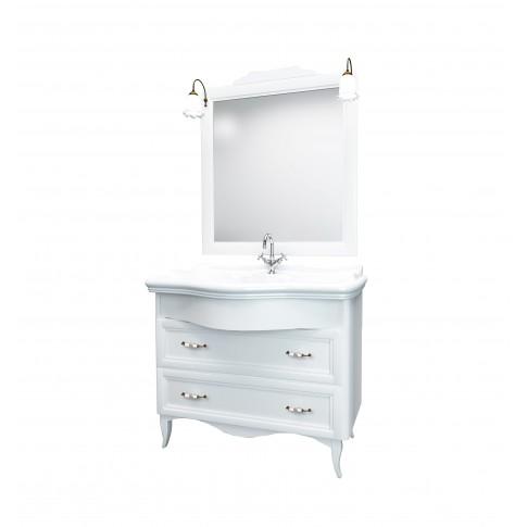 Oglinda baie cu iluminare Savini Due Daiana 7086 / 41, decape alb, cu rama, 100 x 112