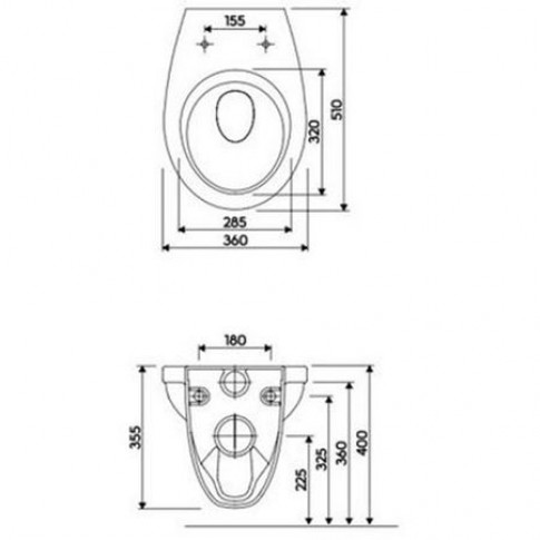 Pachet rezervor apa, incastrat, Kolo Slim 2 Idol 99641000, 50 x 113 cm