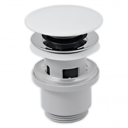 "Ventil click - clack pentru lavoar, Ferro, capac ceramica alb, 1""1/4"