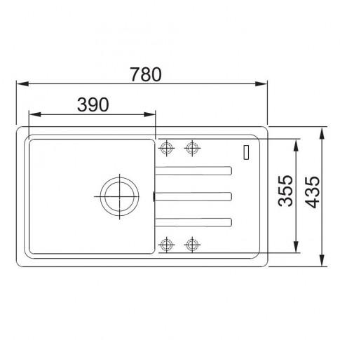 Chiuveta bucatarie compozit fragranite Franke BSG 611-78 grafite negru cuva stanga / dreapta 78 x 43.5 cm
