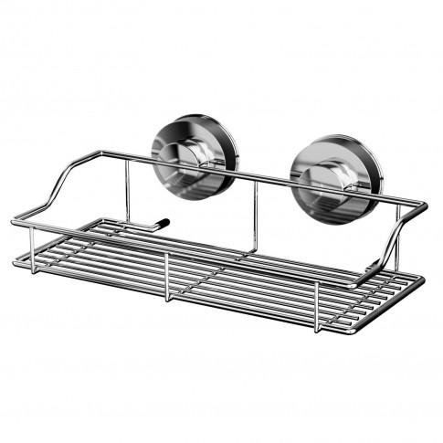 Etajera pentru baie din metal Davo Pro 12010000, montare cu ventuze, 25 x 14.2 x 9.5 cm