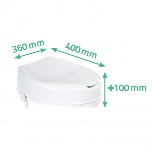 Inaltator WC, cu capac, Davo Pro 38065, alb, 36 x 40 x 10 cm
