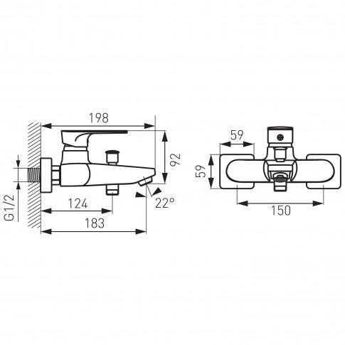 Pachet baterie cada / dus + baterie lavoar + baterie bideu Ferro Platto