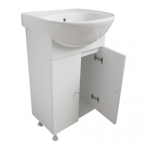 Masca baie + lavoar + oglinda Martplast Start 500, cu usi, alb, 47.5 x 85 x 41.5 cm
