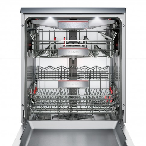 Masina de spalat vase Bosch SMS88TI36E, 13 seturi, clasa A+++, 8 programe, latime 60 cm, gri