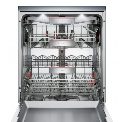 Masina de spalat vase Bosch SMS68TI01E, 14 seturi, clasa A++, 8 programe, latime 60 cm, gri