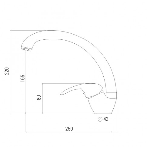 Baterie bucatarie, Alveus Diana A 91 2083191, stativa, monocomanda, algranit negru