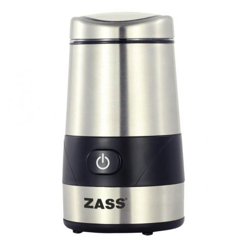 Rasnita de cafea Zass ZCG 07, 200 W, 60 g, functie Pulse, argintiu