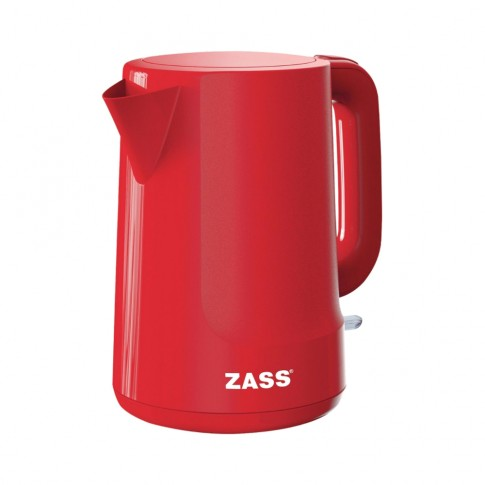 Fierbator de apa electric Zass ZCK 10 RL, 2200 W, 1.7 l, oprire automata, indicator nivel apa, rosu