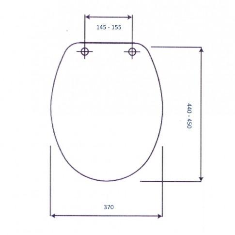 Capac WC din duroplast, Orchidea IB CF0105, cu model, inchidere standard, 370 - 430/450 mm