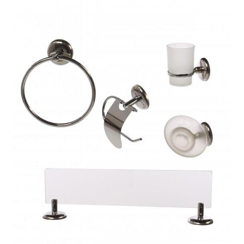 Set accesorii pentru baie, Bay 727321, cromat, 5 piese