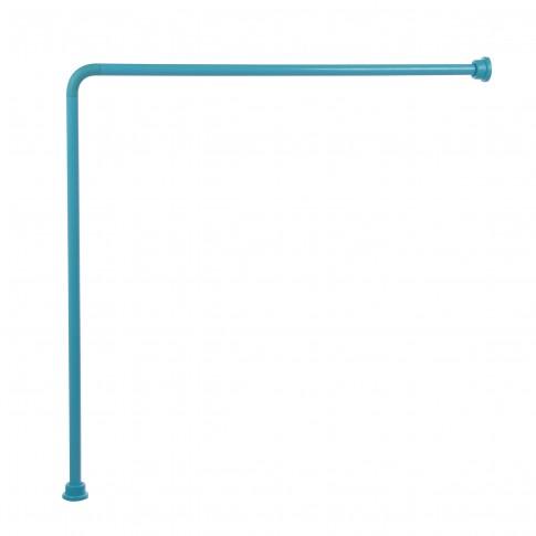 Bara perdea dus, aluminiu, BBP 004187, bleu, 90 x 90 cm