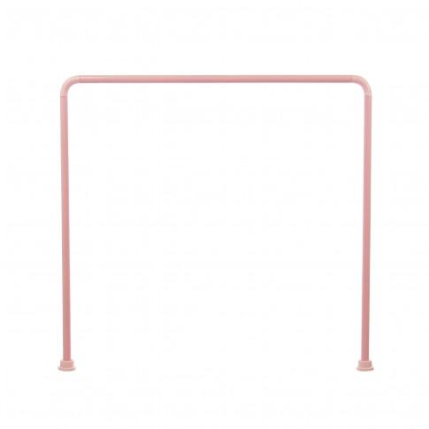 Bara perdea dus, aluminiu, BBP 004224, roz, 90 x 90 x 90 cm