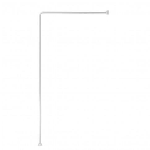 Bara perdea dus, aluminiu, BBP 004149, alba, 90 x 180 cm