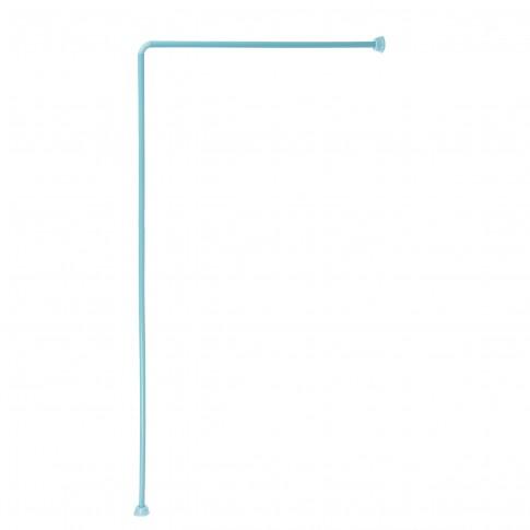 Bara perdea dus, aluminiu, BBP 004170, bleu, 90 x 180 cm