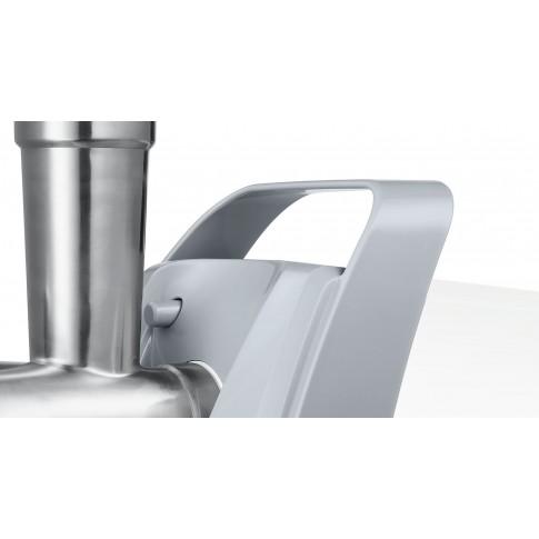 Masina de tocat carne, electrica, Bosch ProPower MFW45020, functie Reverse, 2.7 kg/min, 1600 W, alb + gri