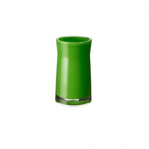 Pahar baie pentru igiena personala, Davo Pro Disco 38068, acrilic, verde, 6.5 x 6.5 x 12.4 cm