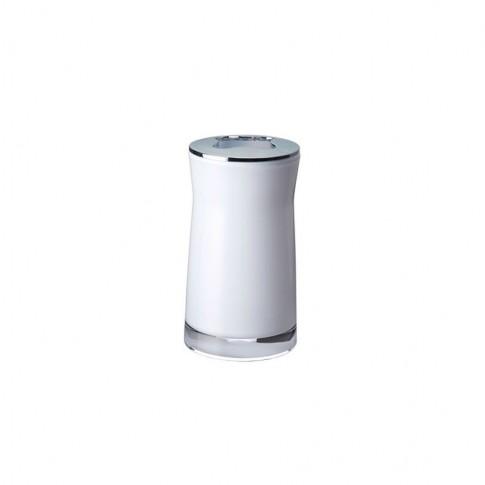 Suport periute dinti Davo Pro Disco 2103201, acrilic, alb, 6.5 x 6.5 x 12.4 cm