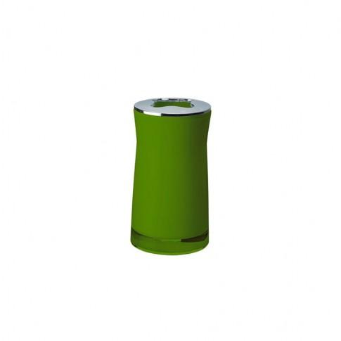 Suport periute dinti Davo Pro Disco 2103205, acrilic, verde, 6.5 x 6.5 x 12.4 cm