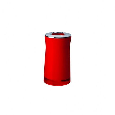 Suport periute dinti Davo Pro Disco 2103206, acrilic, rosu, 6.5 x 6.5 x 12.4 cm