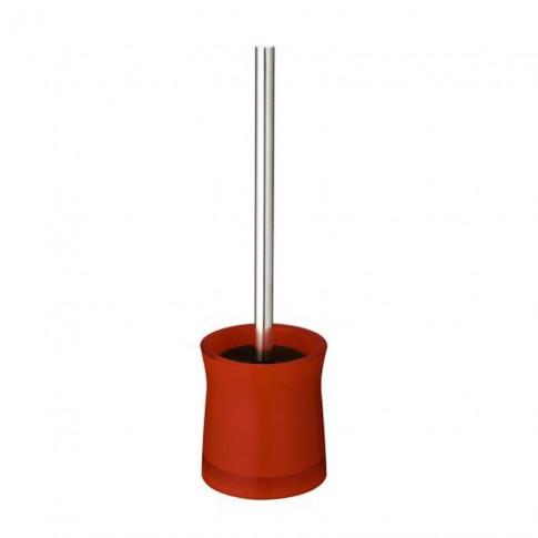 Perie WC Davo Pro Disco 2103406, acrilic, rosu, 10.5 x 38.5 cm