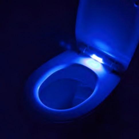 Capac WC cu LED, din plastic, Las Vegas 2206101, alb, inchidere lenta, 360 x 420 mm