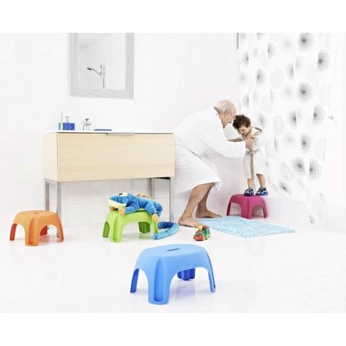 Scaun baie pentru copii A1102614, portocaliu, 27 x 33 x 25 cm