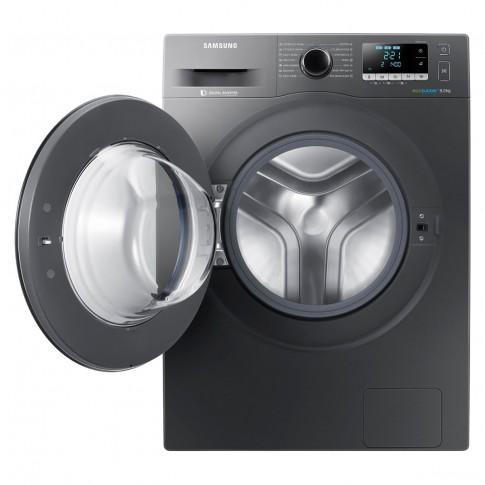 Masina de spalat rufe Samsung WW80J5446FX, 8 kg, 1400 rpm, clasa A+++, adancime 55 cm, tehnologie Eco Bubble, argintie