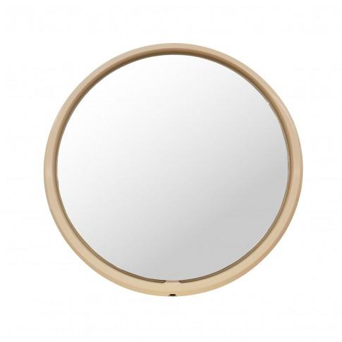 Oglinda baie cu iluminare LED, Martplast Versal, bej, 80 x 80 cm