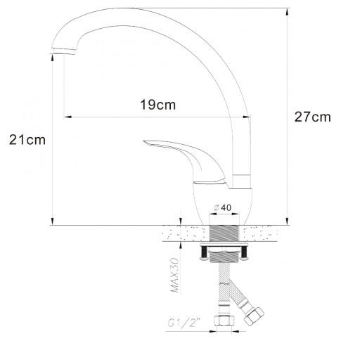 Chiuveta bucatarie compozit granit Alveus Victoria 10 A91 neagra rotunda diametru de 50.5 mm + baterie Diana A91 neagra