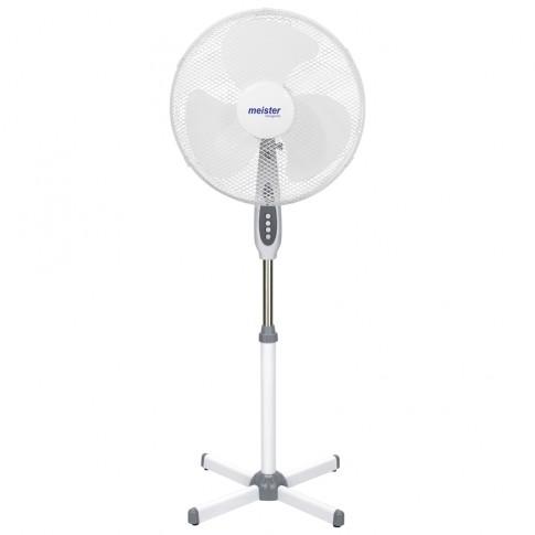 Ventilator cu picior Meister Hausgerate HRH-1693F, 40 W, 3 viteze, diametru 44 cm, alb