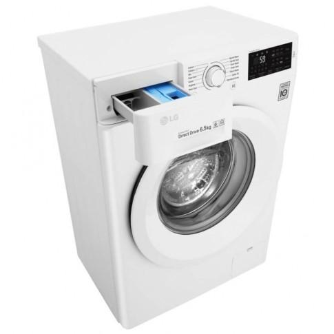 Masina de spalat rufe slim LG F0J5WN3W, 6.5 kg, 1000 rpm, clasa A+++, adancime 45 cm, tehnologie 6 Motion Direct Drive, alb