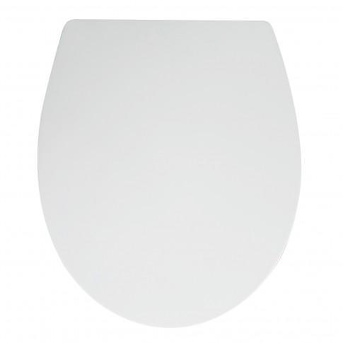 Capac WC din duroplast, KT-T00PDS, alb, inchidere lenta, 370 x 455 mm