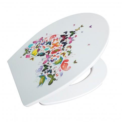 Capac WC duroplast, KT-T00PDS12, model fluturi, inchidere lenta, 370 x 445 mm