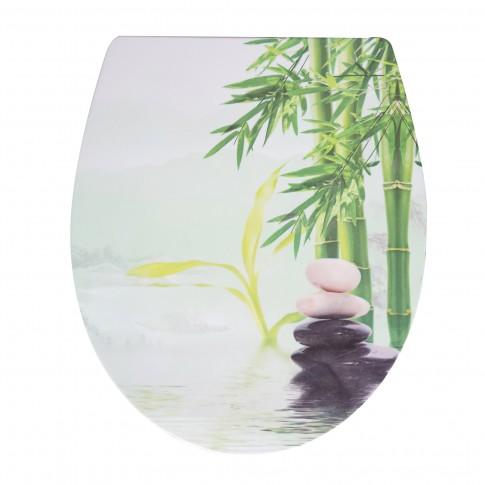 Capac WC duroplast, KT-T00PDS15, model bambus, inchidere lenta, 370 x 445 mm