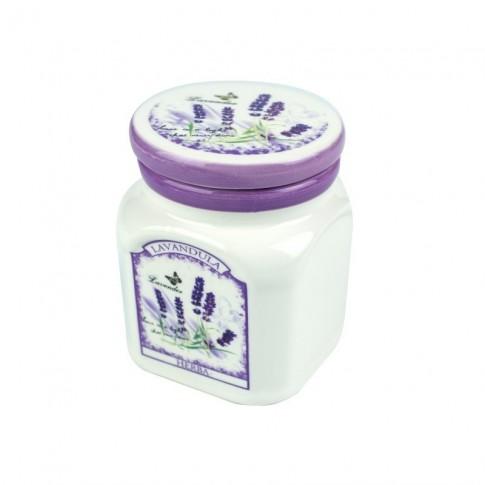 Recipient pentru condimente, Kasemi, ceramica, decor lavanda, 0.125 l