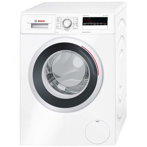 Masina de spalat rufe Bosch WAN20260BY, 8 kg, 1000 rpm, clasa A+++, adancime 55 cm, tehnologie EcoSilence Drive, alba