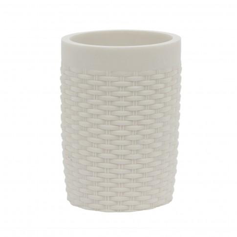 Pahar baie pentru igiena personala, Silk 820071W-2, polistone, alb, 10.5 x 7.5 cm