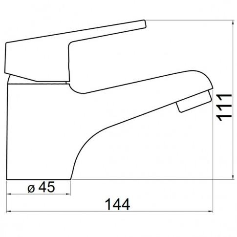 Baterie baie pentru lavoar, Ferro New Neon 93401/1,0, montaj stativ, monocomanda, finisaj cromat