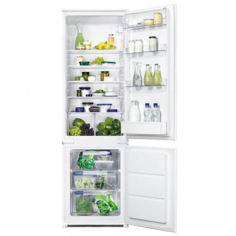 Combina frigorifica Zanussi ZBB28441SA, incorporabila, 268 litri, clasa G, inaltime 177.2 cm, alba