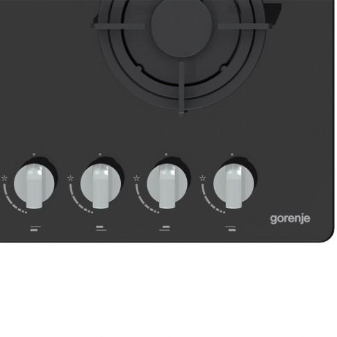 Plita incorporabila pe gaz Gorenje GTW64B, 4 arzatoare, dispozitiv de siguranta, negru