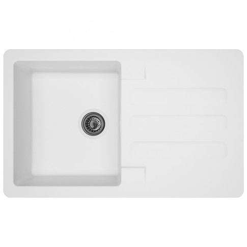 Chiuveta bucatarie compozit SMC Alveus Marin alb cuva stanga / dreapta 81 x 50 cm