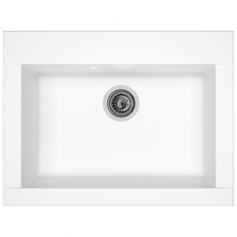 Chiuveta bucatarie compozit SMC Alveus Zonda alb cuva stanga / dreapta 66 x 50 cm