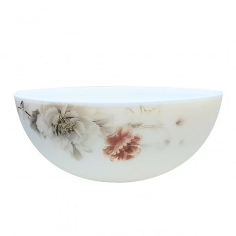 Bol pentru servirea mesei DEC 4 2802104, sticla opal, alb, 15 x 6.5 cm