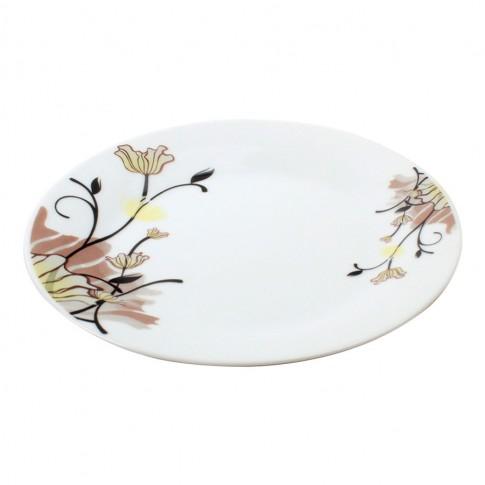 Farfurie intinsa GX2, portelan, alb + model floral multicolor, 26 cm