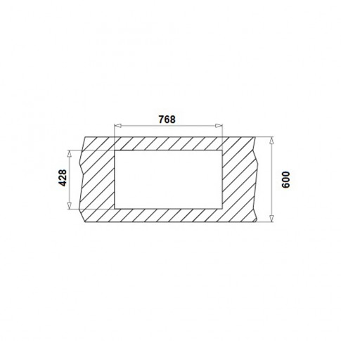 Chiuveta bucatarie inox texturat anticalcar Pyramis Asalia 1B 1D cuva pe stanga 78.8 x 44.8 cm + baterie alama cromat Asalia
