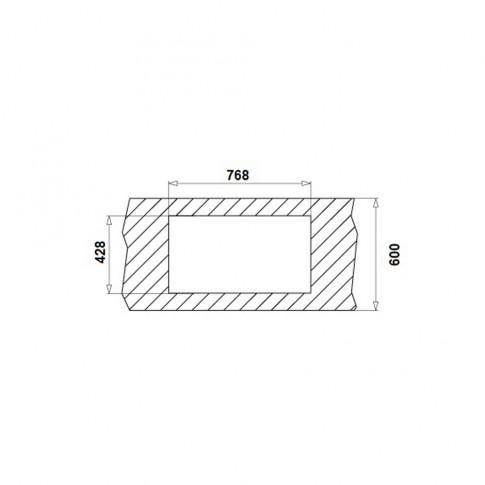 Chiuveta bucatarie inox texturat anticalcar Pyramis Asalia 1B 1D cuva pe dreapta 78.8 x 44.8 cm + baterie alama cromat Asalia