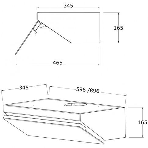Hota decorativa Studio Casa Glassic, incorporabila, 471 mc/h, 1 motor, 143 W, latime 60 cm, neagra