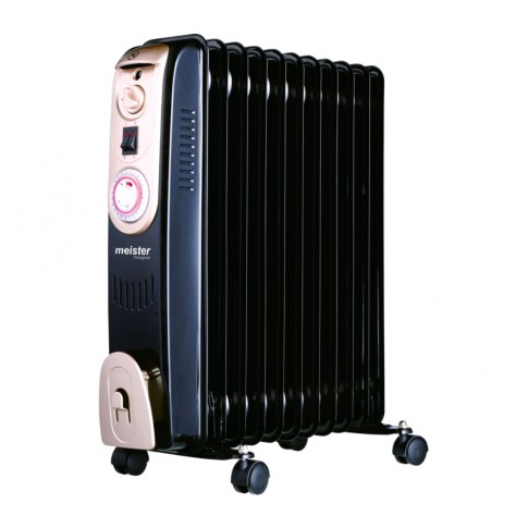 Radiator electric Meister Hausgerate HRH128-11, 3 trepte, 2000 W, 650 x 135 x 560 mm, 11 elementi, termostat reglabil