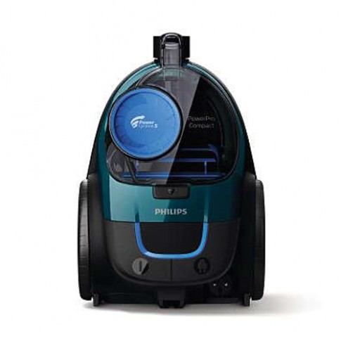 Aspirator Philips PowerPro Compact FC9334/09, ciclonic, fara sac, aspirare uscata, filtru anti-alergeni, tehnologie PowerCyclone 5, 1.5 l, 650 W